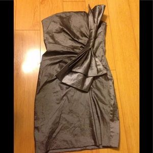 POETRY STRAPLESS Bubble DRESS Sz S Gray COCKTAIL